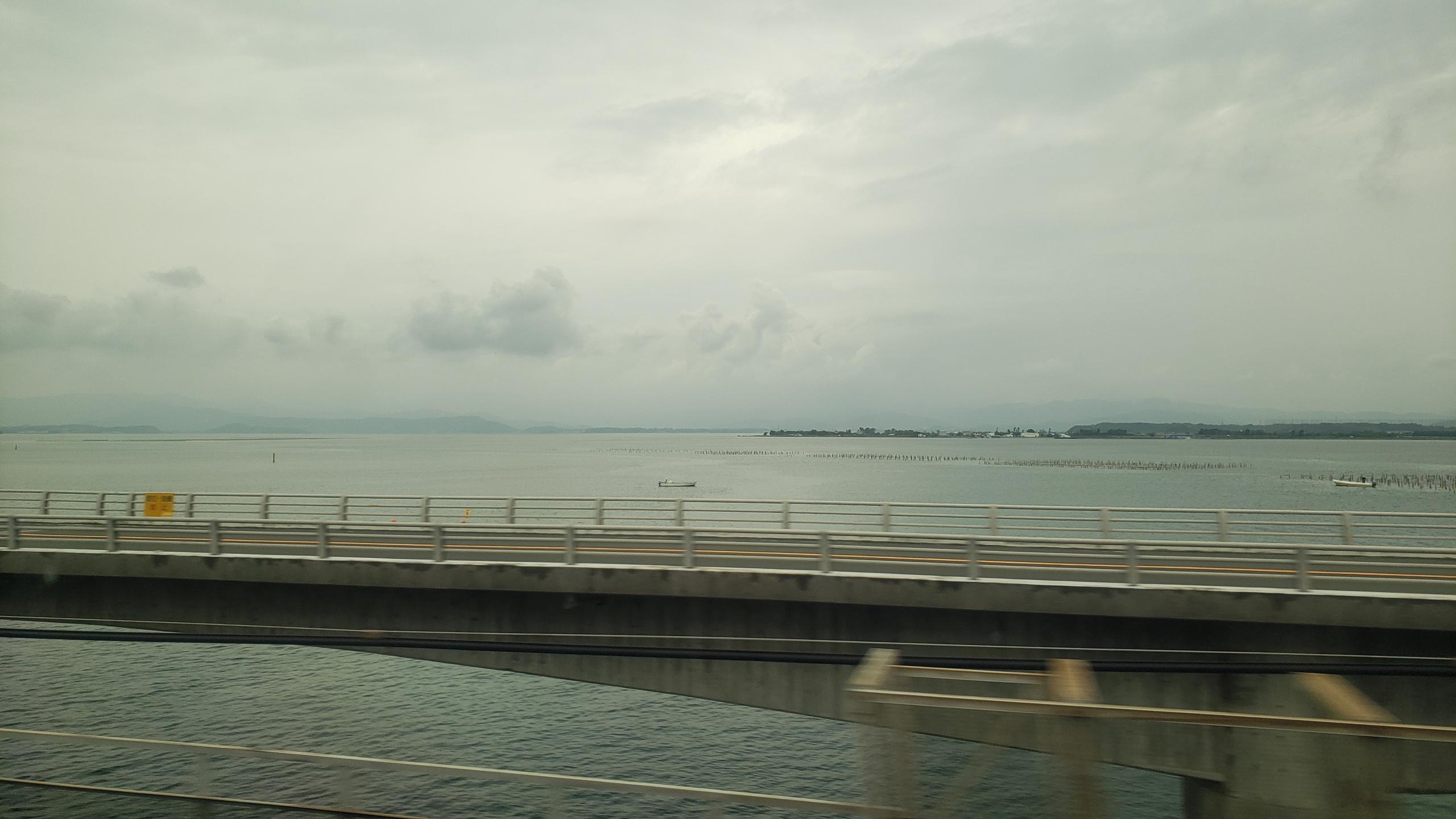 浜名湖(新幹線からの車窓)